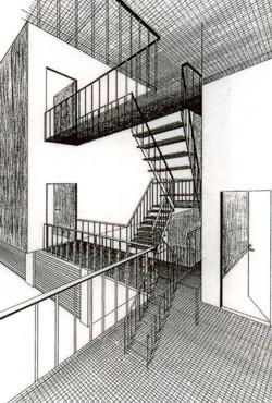 Innenarchitektur skizze  Lebendige Gestaltung - Innenarchitektur - Modell Tanzwerkstatt