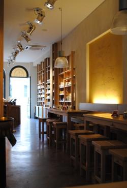 Innenarchitektur Cafe lebendige gestaltung innenarchitektur wandmalerei neustadt